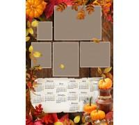 Шаблон календаря Пл-02 на 2020 год с фото на заказ