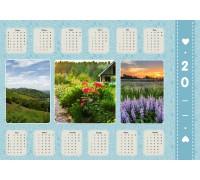 Шаблон календаря Пл-04 на 2020 год с фото на заказ