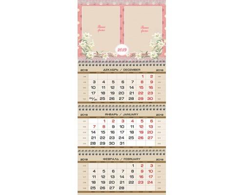 Календарь Кв-А4-03 на 2019 с фото на заказ