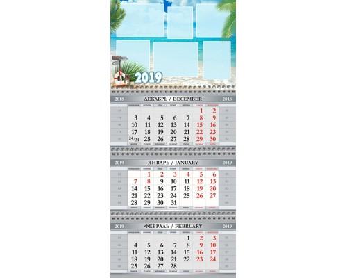 Календарь Кв-А4-09 на 2019 с фото на заказ