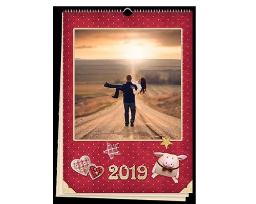 Календарь перекидной настенный А3 с вашими фото