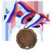 Медаль M-2 с лентой с любым изображением на заказ