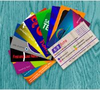 Печать визиток с готовым макетом. Онлайн оплата